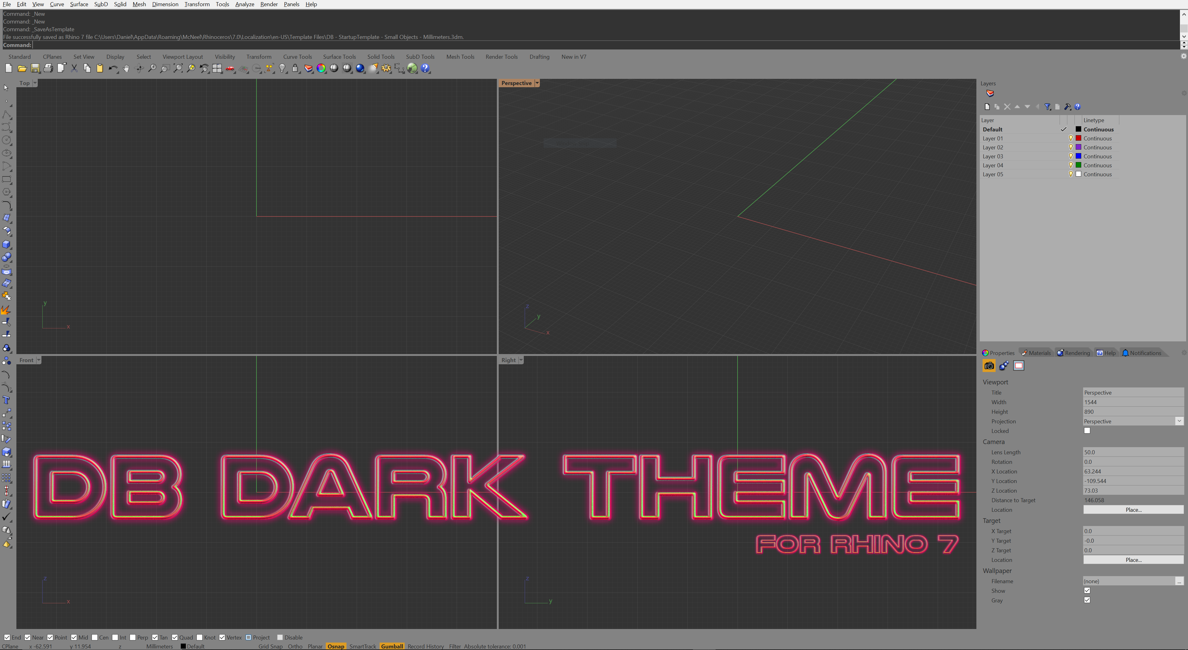 DB Dark Theme For Rhino 7